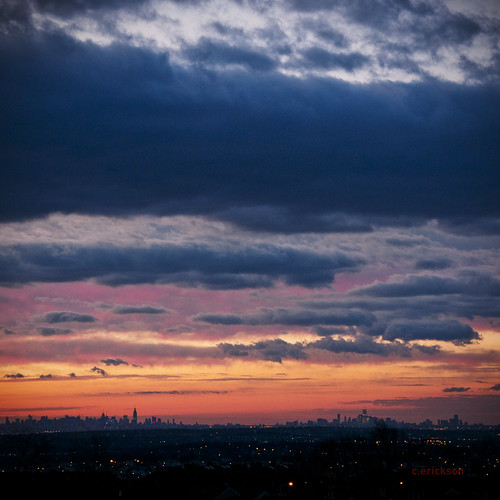 new york city color clouds sunrise downtown december manhattan north jersey layers haledon 12162011