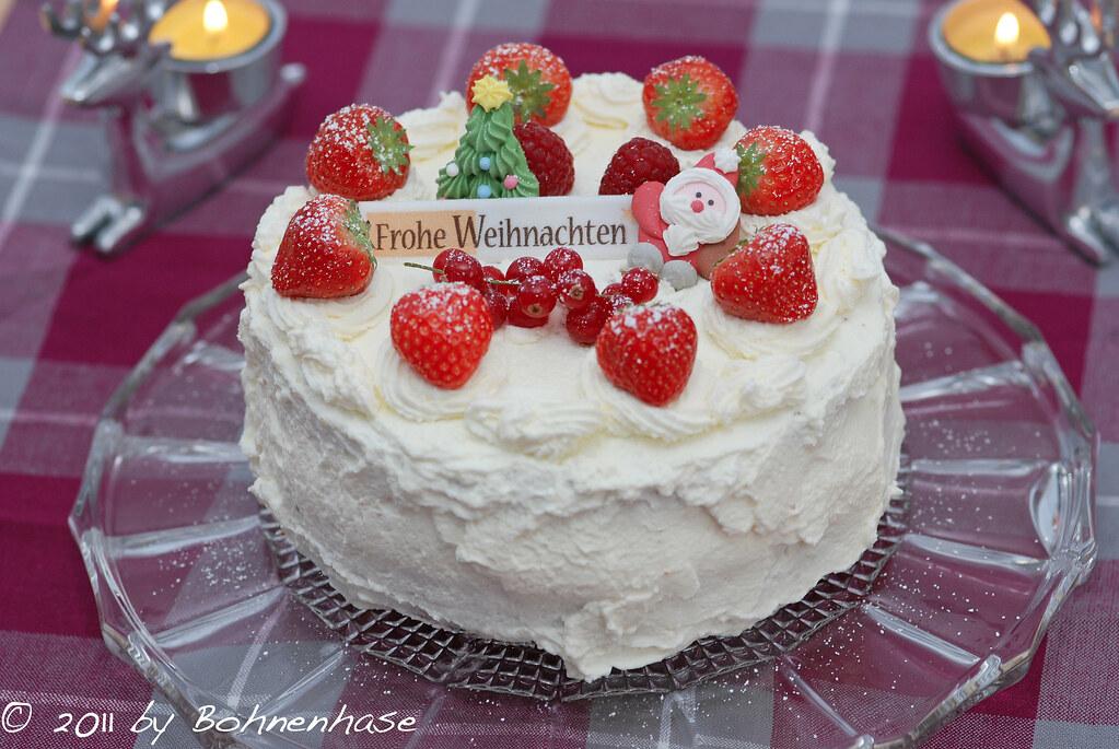Japanese Christmas Cake.Japanese Christmas Cake クリスマスケーキ For More