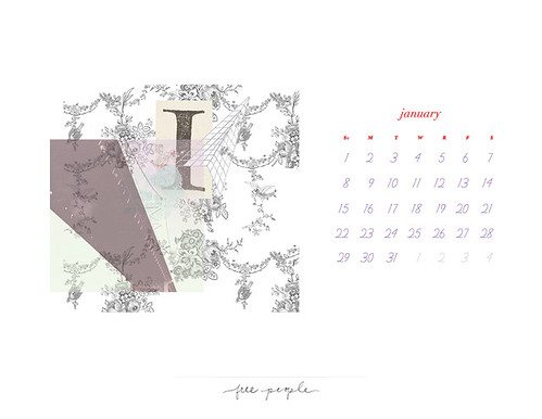January Calendar | by FreePeopleFlickr