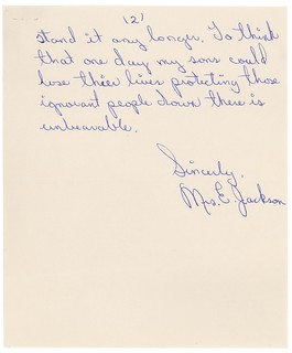 Letter from Mrs. E. Jackson in Favor of Voting Rights, 03/08/1964 (page 2 of 2)