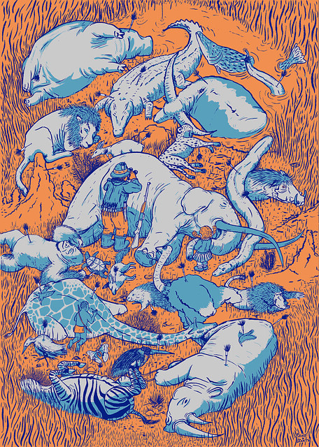»Sedated African Animals« Poster