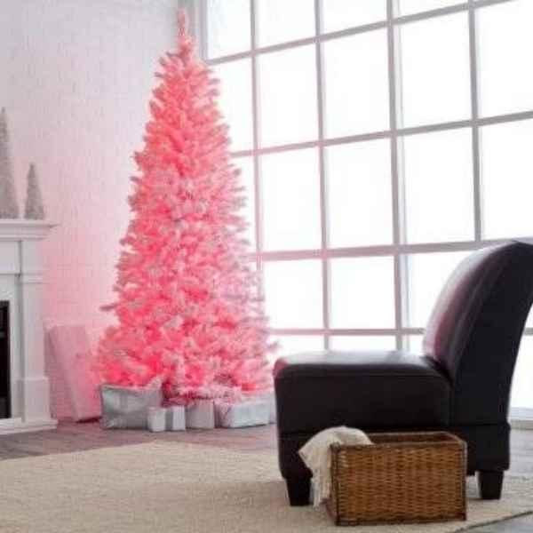 Abeto navidad rosa
