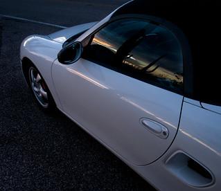 Porsche Boxster Desert Sunset