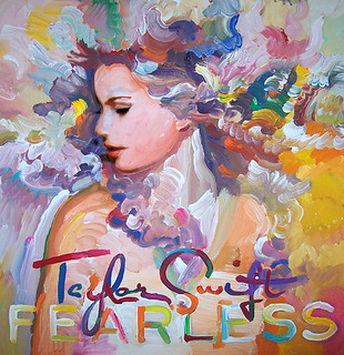 Taylor Swift Fearless album cover pop art painting | by Howie Green