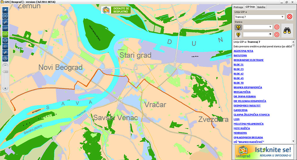 Map Belgrade Plan Grada Unikatna Mapa Beograda Ne Zahtev Flickr