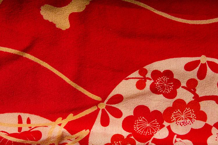 Antique Silk Kimono Fabric