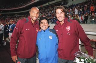 Henry Pires and Maradona