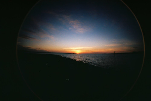 sunset lake film sunrise 35mm real dallas lomo raw ray texas fisheye josh roberts rough dust badfilm strangelydifferent