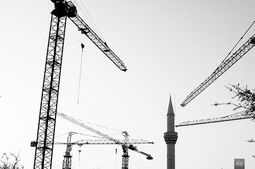 street blackandwhite bw lebanon sunrise construction nikon downtown cityscape beirut d5000 35mmf18g