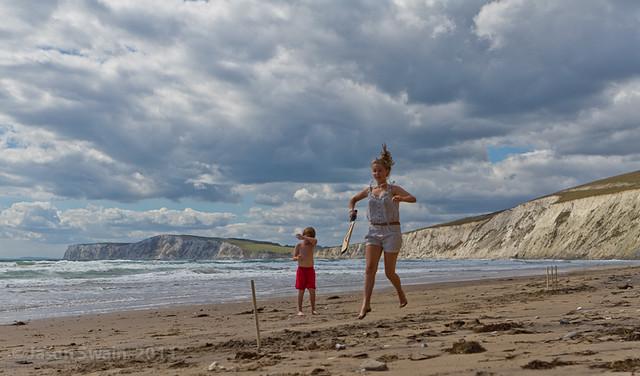 Beach Cricket #2, Compton Bay, Isle of Wight