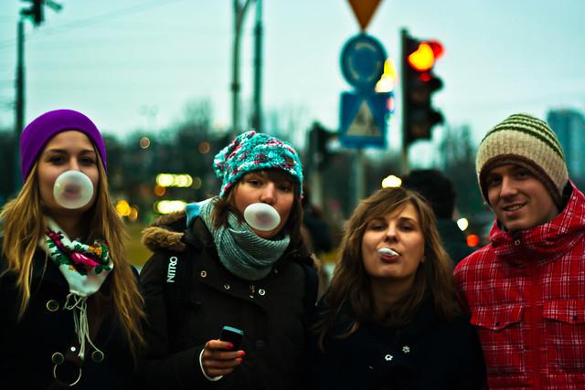 Bubble gum one. Warsaw. 2012.
