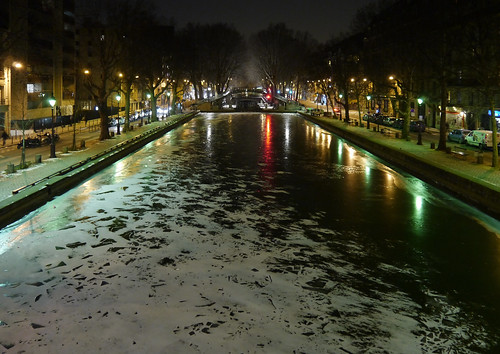 Canal Saint-Martin, une nuit d'hiver | by Groume
