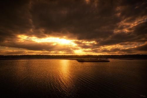 sunset florida hdr sprucecreekpark