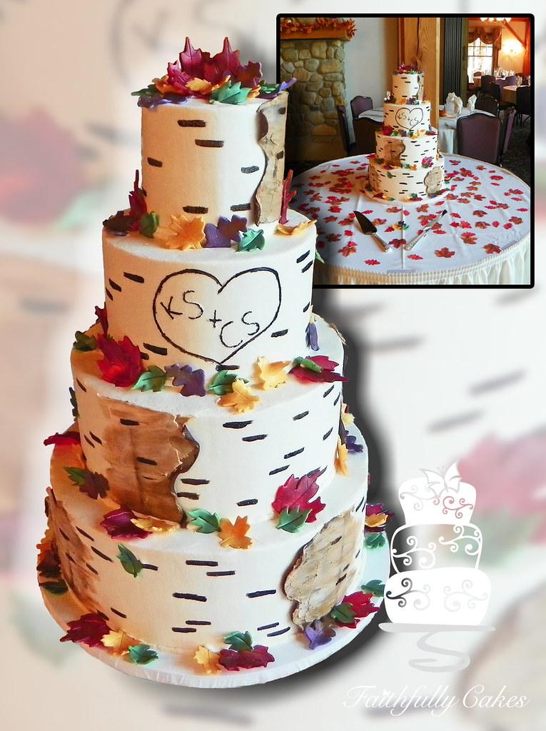 Birch Tree Buttercream Wedding Cake Faithfullycakes Flickr