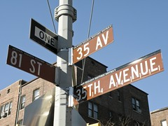 Scrabble Street Sign, Jackson Heights, NY
