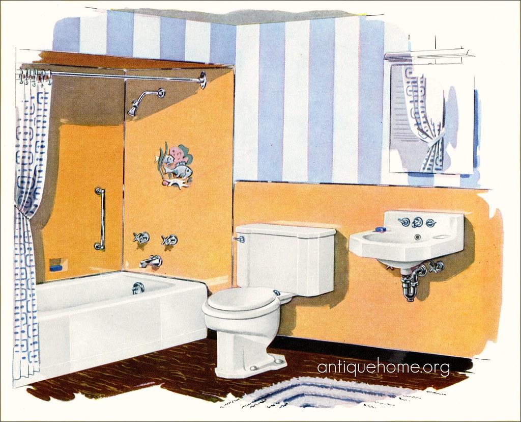 Wondrous Kohler Bathroom 1950S Blue Stripes Daily Bungalow Flickr Gamerscity Chair Design For Home Gamerscityorg