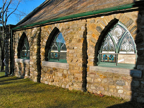 usa ny newyork cemetery architecture essexcounty chapel stainedglass cobblestone ticonderoga 1901 gothicarches valleyviewchapel origamidon donshall stateroute9n ticonderoganewyorkusa