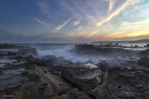 sunset sky beach clouds sand rocks baths merewether canon7d blinkagain dorcam16