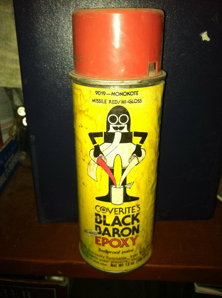 Coverite's black baron epoxy | Vintage spray paint | holey