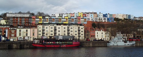 Bristol Harbour and the Grain Barge