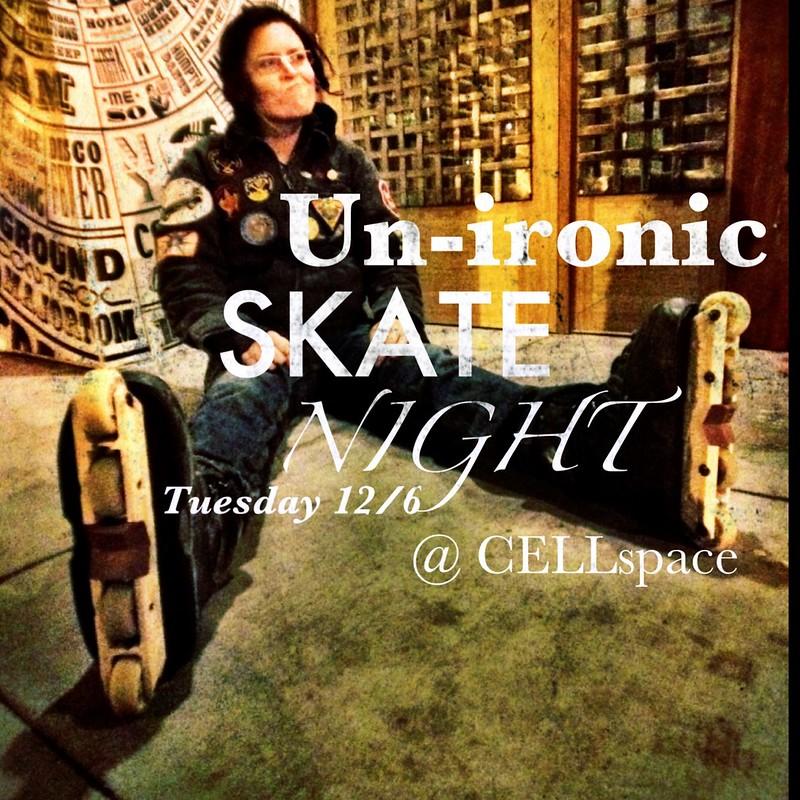 Un-Ironice Skate Night this Tuesday