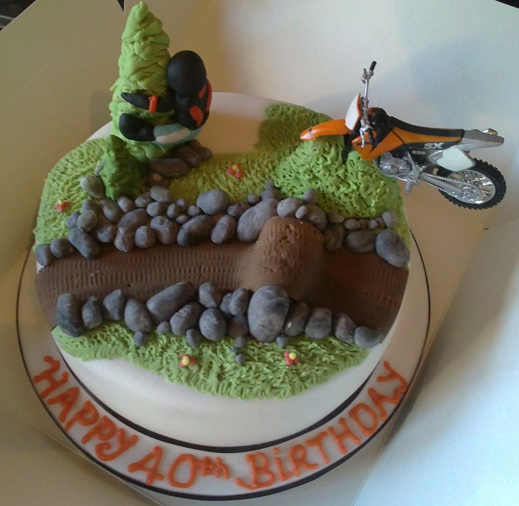 Stupendous I C E D Ktm Motocross Birthday Cake Lorraine Hampton Flickr Birthday Cards Printable Trancafe Filternl