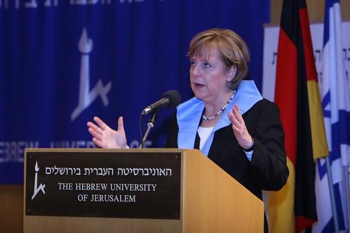 Chancellor Angela Merkel receiving honorary doctorate, 01.04.07