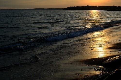 sunset sea sky usa sun beach america reflex nikon tramonto capecod massachusetts american cape cod falmouth massachusets onda riflesso orizzonte bagnoasciuga d3100 fabiotode