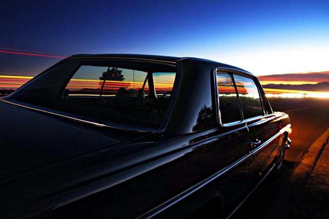 Sunset over the Mojave Desert