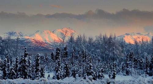 sunset snow alaska night anchorage newacademy fleursetpaysages outstandingromanianphotographers
