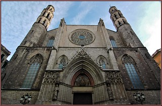 Basílica de Santa María del Mar,Barcelona,Cataluña,España | by Catedrales e Iglesias