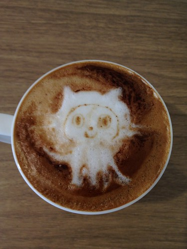 Today's latte, Octocat again! with his whiskers. | by yukop