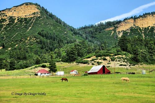 """red horse mountain barn rural colorado farm country co chrono imagebydesignworks """"redbarn"""""""