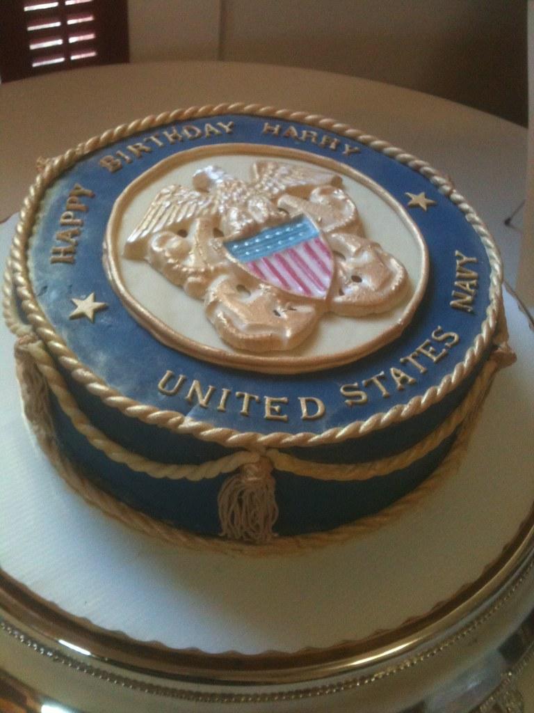 Remarkable Navy Birthday Cake Sharon Dutton Flickr Funny Birthday Cards Online Fluifree Goldxyz