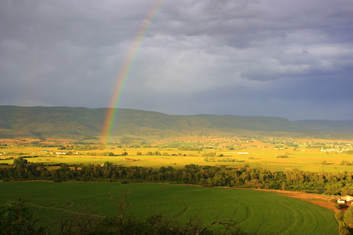 summer usa rain weather landscape utah rainbow ut colorful day farm country midway hebervalley 2010 wasatchcounty