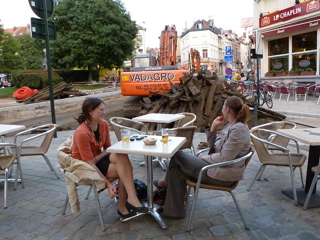 Friends enjoying the Friends' Café