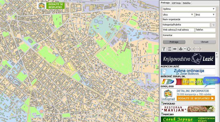 Beograd Mapa Grada Elektronksa Mapa I Informator Beograda Flickr