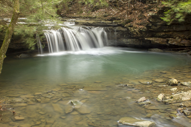 Blue Hole Falls, Fiery Gizzard Trail, Grundy Forest SNA, Grundy Co, TN