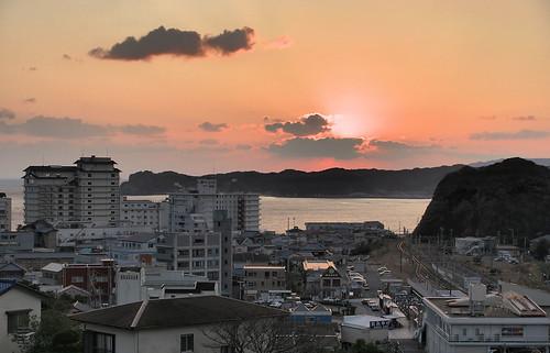 winter sunset japan chiba 日本 冬 海 空 千葉 katsuura 勝浦