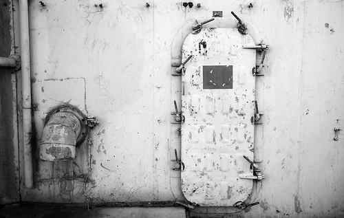 Watertight Door on the USS Iowa   by tehgipster