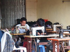 "Local ""sweat shop"" in Ban Lung (Cambodia 2011)"