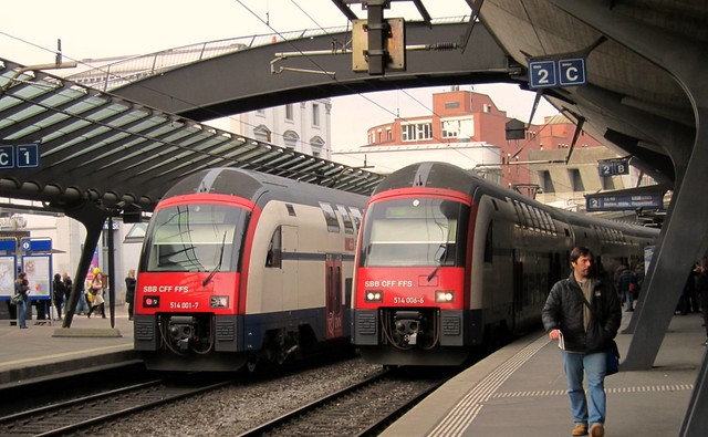 S-Bahn Zurich - The Stadelhofen Railway Station