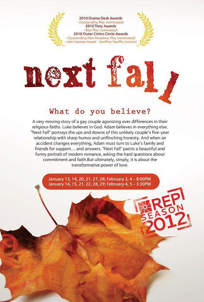 NEXT FALL (2012) | Repertory Philippines' NEXT FALL by Geoff… | Flickr