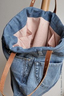 Repurposing an old pair of jeans :: a DIY | by // Between the Lines //