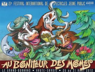 Affiche Festival Au Bonheur des Mômes - 2012   by Le Grand-Bornand