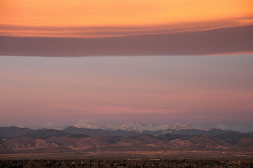 morning pink light beautiful clouds sunrise rockies colorado denver rockymountains frontrange viewfromhotelroom lenticularclouds