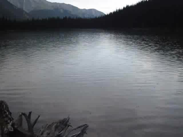 0818 Video of a brief summer rainfall on Luellen Lake