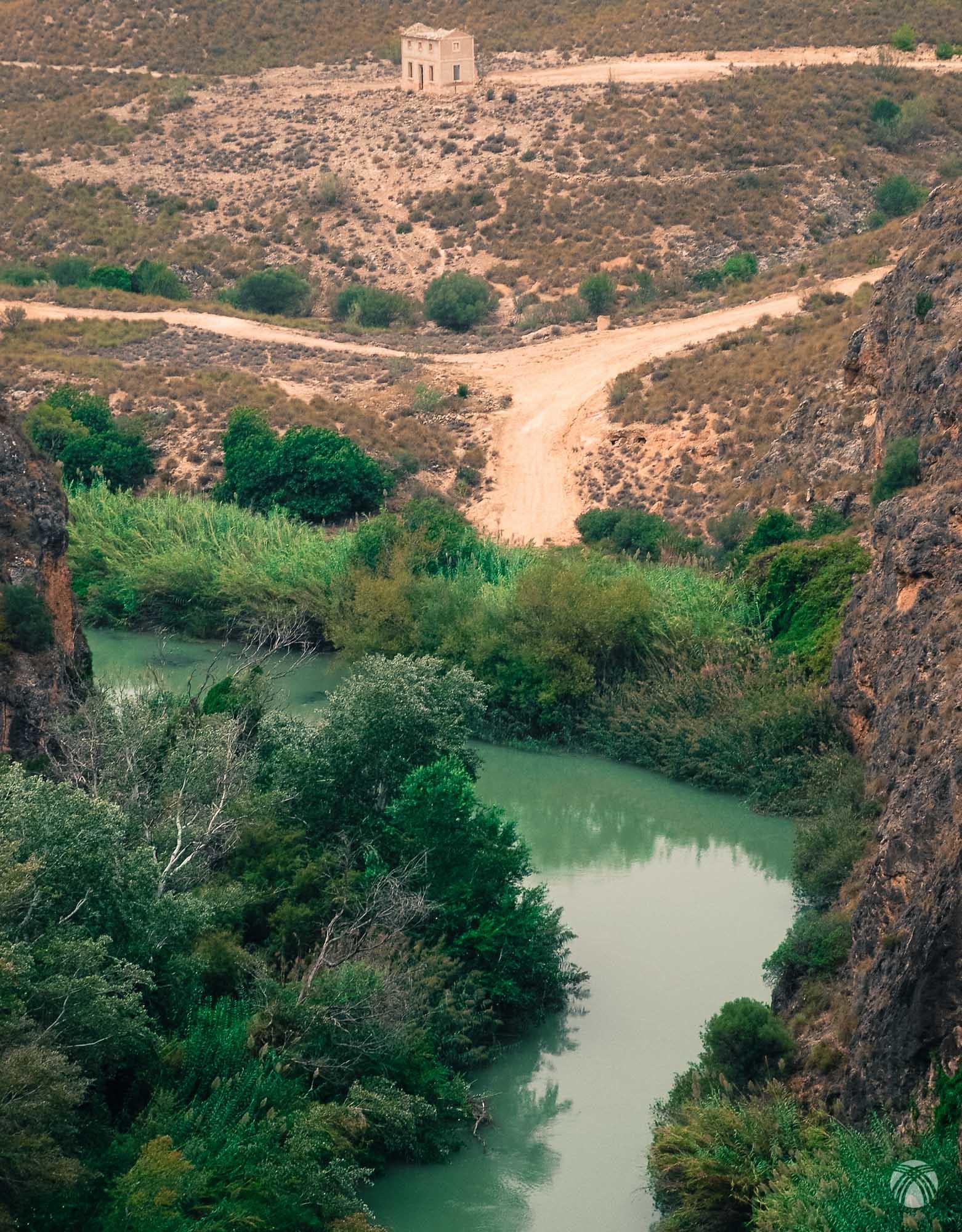 La casa de la maestra, un poco más arriba de la presa de la Mulata