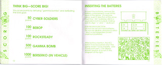 "TIGER ELECTRONICS :: ""TEENAGE MUTANT NINJA TURTLES: DIMENSION-X ASSAULT"" 'TALKING' ELECTRONIC LCD GAME ..INSTRUCTION MANUAL  pgs. 12,13 (( 1995 )) 