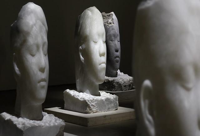'Alabaster Heads, 2008-10', Underground Gallery, Yorkshire Sculpture Park, near Wakefield, West Yorkshire, UK
